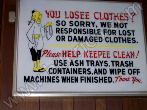 Lost Clothes Sign